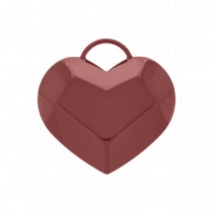 Pingente Coração com Pintura Ketchup 56mm