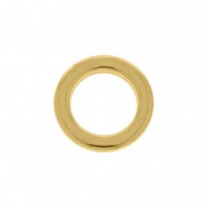 Argola de Montagem Redonda Injetada Ouro 18mm