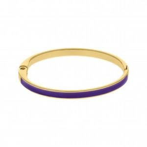 Base para Pulseira Ouro com Resina Purple Velvet 68mm