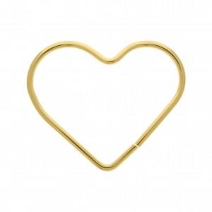 Alça para Bolsa Coração Ouro 120mm