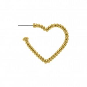 Base para Brinco Coração Ouro 29mm