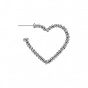 Base para Brinco Coração Níquel 29mm