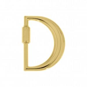 Mosquetão Letra D Ouro 35mm