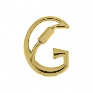 Mosquetão Letra G Ouro 35mm