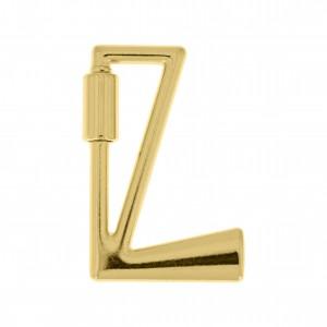 Mosquetão Letra L Ouro 35mm