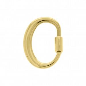 Mosquetão Letra O Ouro 35mm