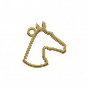 Pingente Ouro Cavalo 18mm