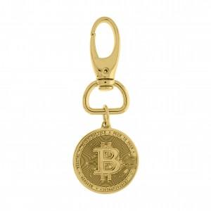 Chaveiro Bitcoin Montado Ouro 105mm