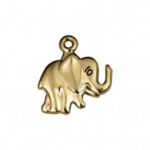 Pingente Elefante Ouro 17mm