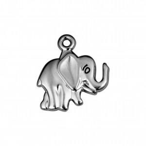 Pingente Elefante Níquel 17mm