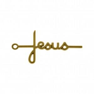 Pingente Jesus Ouro 46mm