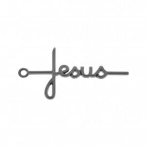 Pingente Jesus Níquel 46mm