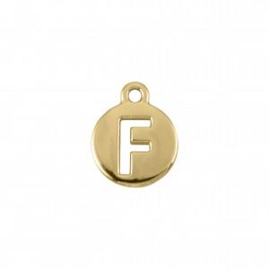 Pingente Ouro Letra F