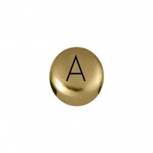 Passador Redondo Letra A Ouro 8mm
