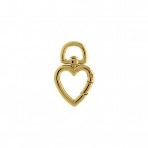 Mosquetão Coração Ouro 35mm