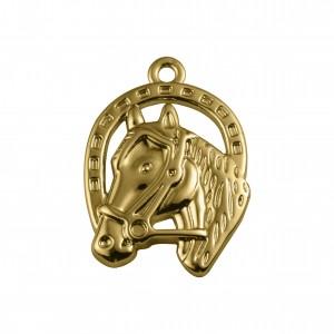 Pingente Cavalo Ouro 38mm