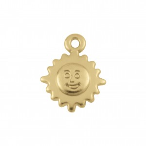 Pingente Sol Ouro 16mm
