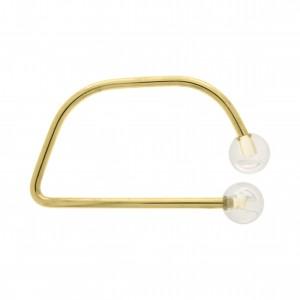 Alça para Bolsa Ouro com Esfera Acrílico Transparente 114mm