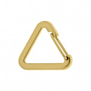 Mosquetão Triângulo Ouro 30mm
