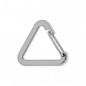 Mosquetão Triângulo Níquel 30mm