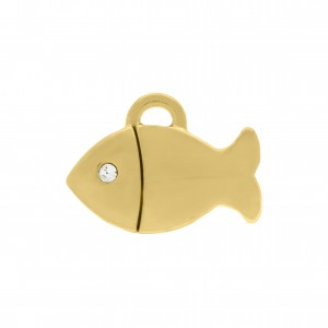 Pingente Peixe Ouro 15mm