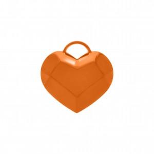 Pingente Coração com Pintura Laranja 42mm