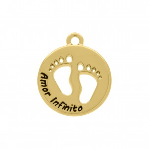 Pingente Medalha Amor Infinito 20mm