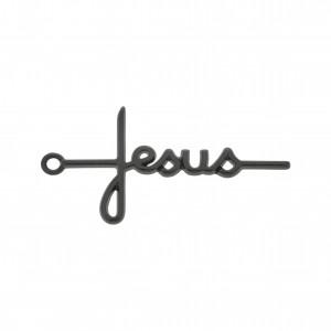 Pingente Jesus Grafite 46mm