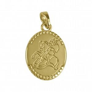 Pingente Medalha São Jorge Ouro 25mm
