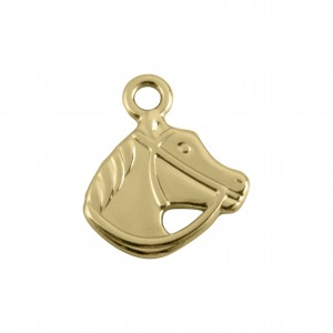 Pingente Cavalo Ouro 17mm