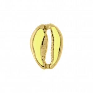 Pingente Búzio Ouro com Resina Chartruse 18mm