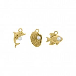 Conjunto de Pingentes Marítimos Ouro