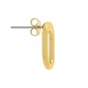 Base para Brinco Oval Ouro 17mm