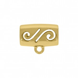 Tubo Arabescado Ouro 16mm