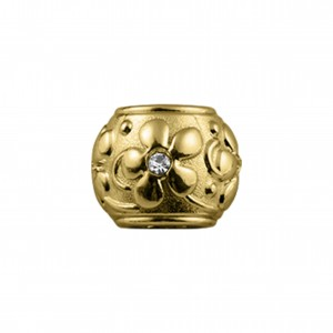 Entremeio Floral Ouro 13mm