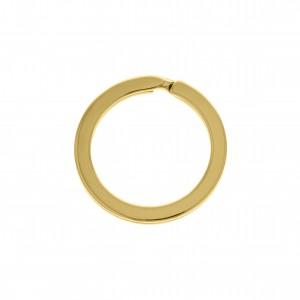 Argola para Chaveiro Ouro Abertura 22,80mm
