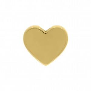 Passador Coração Ouro 9mm