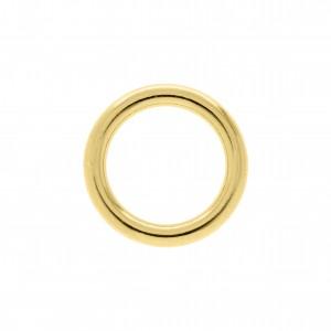 Argola Redonda Injetada Ouro 28mm