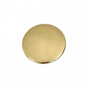 Botão Redondo Ouro 25mm