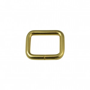 Argola para Bolsa Quadrada Ouro 25mm