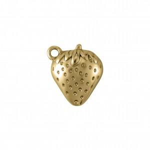 Pingente Morango Ouro 18mm