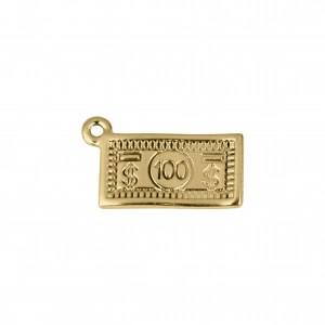 Pingente Dólar Ouro 19mm