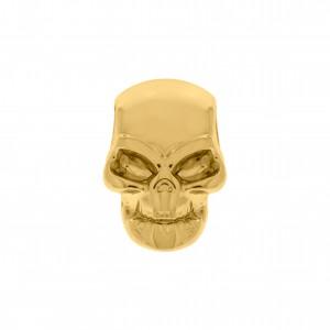 Berloque Caveira Ouro 16mm