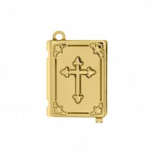 Pingente Relicário Bíblia Ouro 36mm