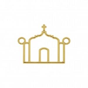 Pingente Igreja Ouro 32mm
