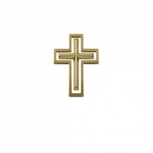 Conjunto Crucifixo Ouro 45mm