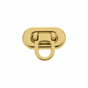 Fecho Oval Ouro 30mm para Bolsa