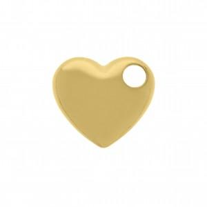 Pingente Coração Ouro 15mm