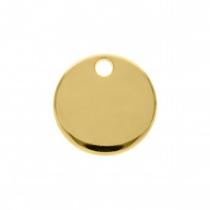 Pingente Redondo Liso Ouro 15mm