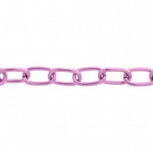 Corrente Pink Gloss 12,8mm de Espessura com Elo de 22,7mm